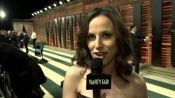 Alicia Menendez on the Red Carpet at the V.F. Academy Awards Party