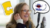 Nancy Cartwright (Bart Simpson) Improvises 8 New Cartoon Voices