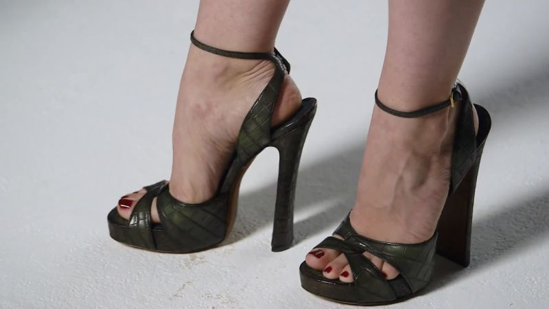 Image result for ankle strap heels from 70s""