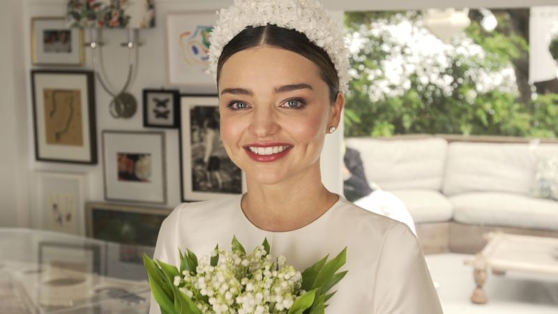 678663a829170 Miranda Kerr s Wedding Dress  An Exclusive Look at Her Custom Dior Haute  Couture Gown - Vogue