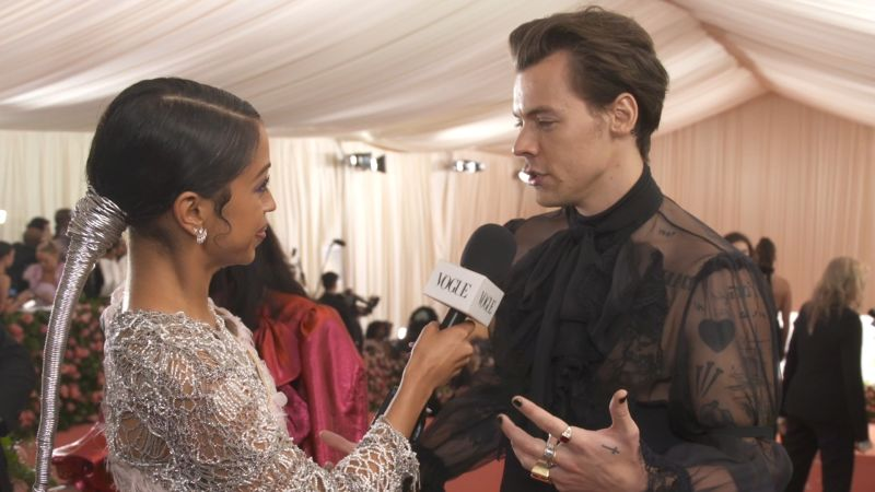 a1598235d Watch Met Gala | Harry Styles on His Sheer Gucci Outfit and Being Met Gala  Co-Chair | Vogue Video | CNE | Vogue.com