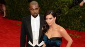 Kim Kardashian and Kanye West at the 2014 Met Gala