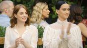 Emma Stone & Katy Perry Watch the Creative Final Fashion Show