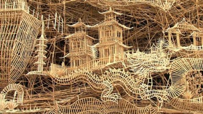 Dude Totally Re-Creates San Francisco With Toothpicks | WIRED