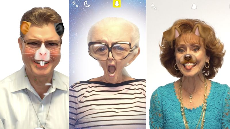 A Bunch of Old People Tried Out Snapchat Filters - WIRED